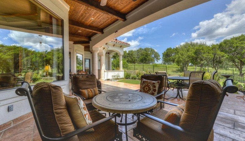Back Patio with Golf Course View